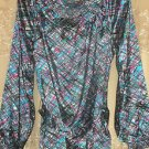 Parkside Scoopneck Printed Tunic with Removable Self Belt MEDIUM