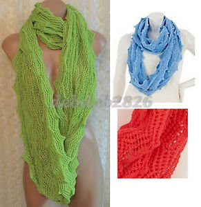Layers by Lizden Wavy Crochet Infinity Scaf Choice of Colors