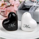 1 Pair Round Cube Ceramic Mr. and Mrs. Salt Pepper Wedding Party Favor Shakers Canister(BICP044953)