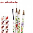 4pcs New Flower Pattern Drawing Painting Liner Striping Point Brush Pen Nail Art (BICP055001)