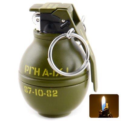 Multifunctional Mini Keychain Grenade Shaped Gas Lighter(OM0041601)