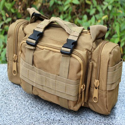 Utility Canvas Waist Bag Shoulder Pack Outdoor Hiking Messenger Cycling Supplies(117203702)