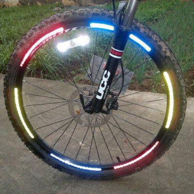 8 PCS / Sheet White Fashionable Bike Wheel Reflective Stickers(OU0086804)