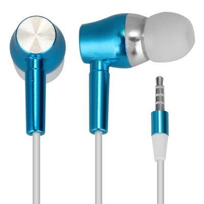 Blue In-Ear Earphone Luminous Cable Sweet Proof Deep Bass Stereo Earphone with MIC(EN0064301)