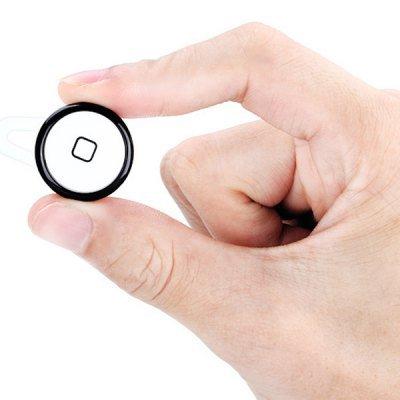 White Black Rim Mini Wireless Bluetooth Earphone Ear-hook Headset with Mic (EN0069703)