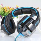 EACH G8000 USB and Audio Jack Dual Input Gaming Headset Stereo Headphone Sound Headset (101991703)