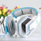 White EACH G8000 USB and Audio Jack Dual Input Gaming Headset Stereo Headphone Headset (101991702)