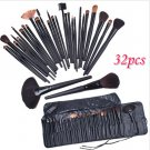 32 PCS Cosmetic Make up Brush Kit Wool Makeup Brushes Tools Set with Black Leather Bag( TOM-H4456)