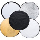 5 in 1 Portable Collapsible Light Round Photography Reflector for Studio Multi Photo Disc