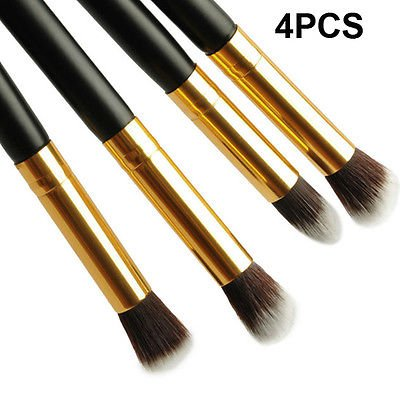 4 Pcs Eye Shadow Foundation Blending Brush Set Pro Makeup Cosmetic Tool