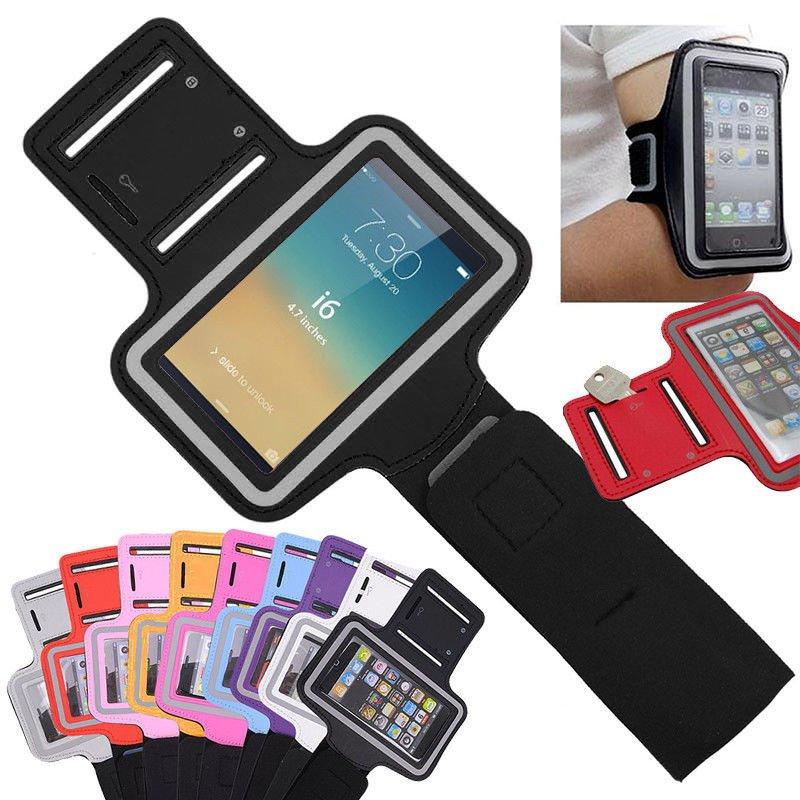Black Sports Armband Gym Running Jog Case Arm Holder for iPhone 6 Samsung Galaxy S4/S3