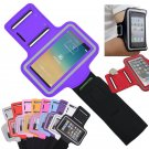 Purple Sports Armband Gym Running Jog Case Arm Holder for iPhone 6 Samsung Galaxy S4/S3