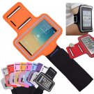 Orange Sports Armband Gym Running Jog Case Arm Holder for iPhone 6 Samsung Galaxy S4/S3