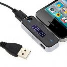 Wireless Car FM Radio Transmitter 3.5mm Audio for Smartphones and pc