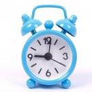 1 Pcs Blue Mini Cartoon Dial Number Round Desktop Alarm Clock (HT-61193 Blue)