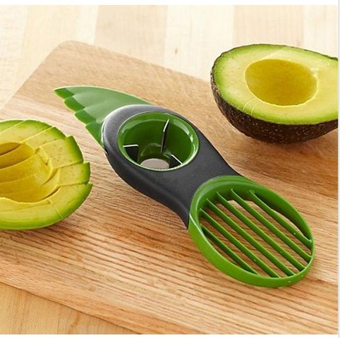 3-in-1 Avocado Slicer Splits Plastic Slices Sharp Durable Blade Fruit Pitter (BICP053881)