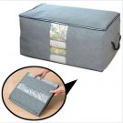 65L Bamboo Charcoal Clothes Blanket Folding Storage Organizer Box Bag Closet (BICP027254)
