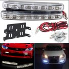 2Pcs Car Daytime Running Lights 8 LED DRL Daylight Kit Super White 12V DC Head Lamp(HT-12533)