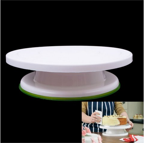 28cm Cake Turntable Decoration Modelling Tool Display Stand Cake Rotating Mould(HT-55302)