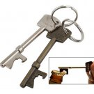 1 Pcs Bottle Opener Key Ring Keyring Chain Metal Bar Tool(BICP002633)