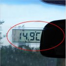 Transparent Digital LCD Car Windscreen Inner Temperature Thermometer Suction Cup(BICP041221)