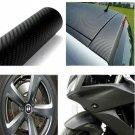"Black 60"" x 24"" 3D Carbon Fiber Vinyl Wrap Film Car Vehicle Sticker Sheet Roll (BICP053843)"
