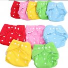 1 PC Baby Pocket Diapers Random Color + 6PCS Baby Cloth Diaper Nappy (BICP011450)
