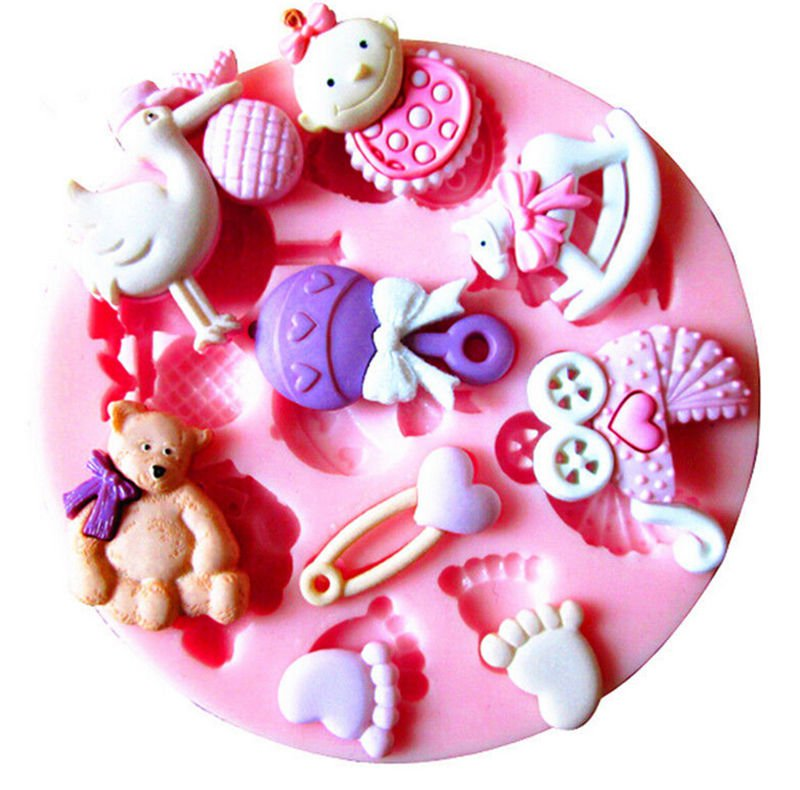 Baby Silicone Mold For Fondant Cake Chocolate Decorating Candy Clay Sugarcraft(261670070097)