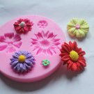 Flower Silicone Clay Soap Mold Fondant Sugarcraft Chocolate Cake Decorating Tool(261676639593)