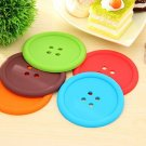5Pcs Colorful Silicone Button Coaster Cup Cushion Holder Drink Placemat Mat (251612727766)