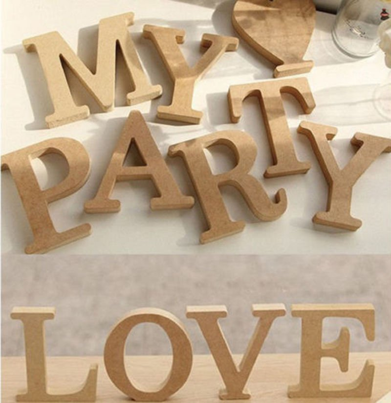 """M"" 1 Pcs Wooden Letter M  Alphabet Word Free Standing Wedding Party Home Decor(261601445657)"