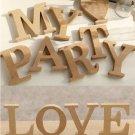 """U"" 1 Pcs Wooden Letter U  Alphabet Word Free Standing Wedding Party Home Decor(261601445657)"