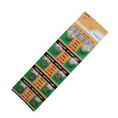 10pcs New AG10 LR1130 389A LR54 L1131 189 Button Cell Coin Battery(390836184093)