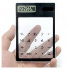 New Solar Touch Screen LCD 8 Digit Electronic Transparent Calculator(261572902777)