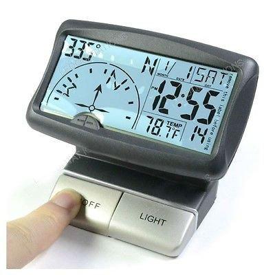 Multi-function Auto Car Navigation Digital Compass Clock Temperature Thermometer