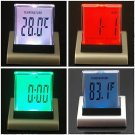 1 Pcs 7 Color Change LED Digital Alarm Clock with Calendar & Temperature(390703365931)