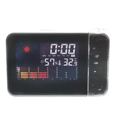 Digital LED Display Weather Station Projection Alarm Clock temperature Humidity(271099969617)