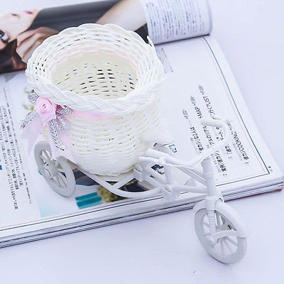 Pretty White Tricycle Bike Design Flower Basket for Party Weddding Decoration(161563479408)