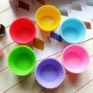 12 pcs Round Soft Silicone Cake Muffin Chocolate Cupcake Liner Baking Cup Mold(161362887169)