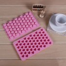 1 X Baking Mould Chocolate Decoration Hot Silicone DIY 55 Mini Heart Shape Mold(161362859206)
