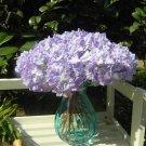 8 Pcs Purple Wedding Bridal Party Artificial Hydrangea Bouquet Silk Flowers Leaf (131247833439)
