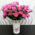 1 Pcs (6 Rose Head) Rose Red Color  Artificial Flowers Silk Rose Bouquet Home Decor (251757596084)