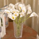 12 Pcs White Calla Lily Artificial Bouquet Fake Silk Flowers ( 381050731191)