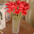 12 Pcs Red Calla Lily Artificial Bouquet Fake Silk Flowers ( 381050731191)