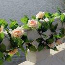 1 Strip Champagne Artificial Silk Rose Flower Hanging Garland Wedding Home Decor (371040802810)