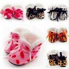 1 Pair Baby Girl Newborn Winter Warm Boots Toddler Infant Soft Sole Shoes 0-6 Months