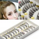 10Pairs Long Cross False Eyelashes Makeup Natural Fake Thick Black Eye Lash(141418501069)