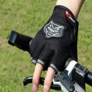 Black Bicycle Bike Fitness Anti Slip Half Finger Exercise Workout Sport Gloves (BICP049223)