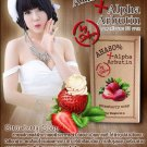 Alpha Arbutin + AHA 80% Strawberry Soap, Skin Whitening Lightening Bleaching 80 g (291362070699)
