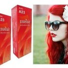BERINA HAIR COLOR CREAM BRIGHT RED COLOR A23 PERMANENT HAIR DYE SUPER COLOR(291306921975)